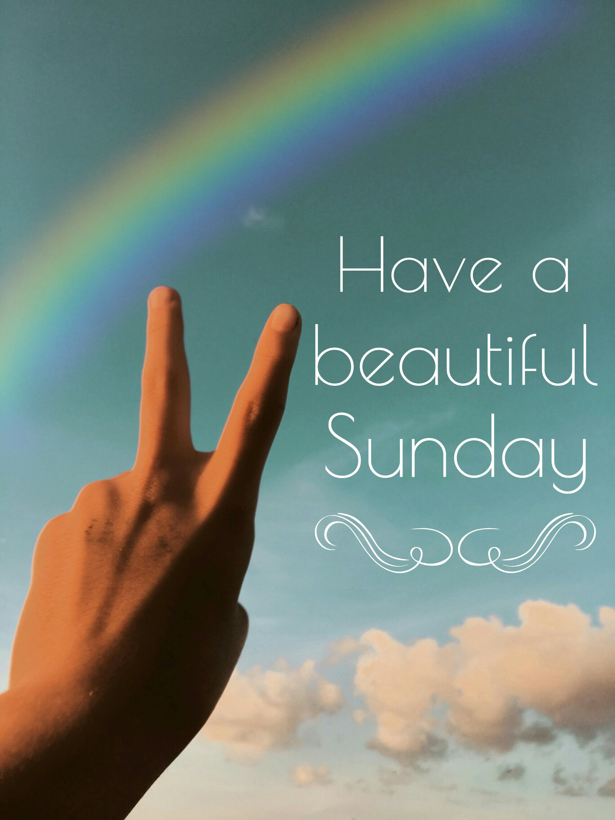 Happy Sunday☺ quotes & sayings sunday funday rainbow c...