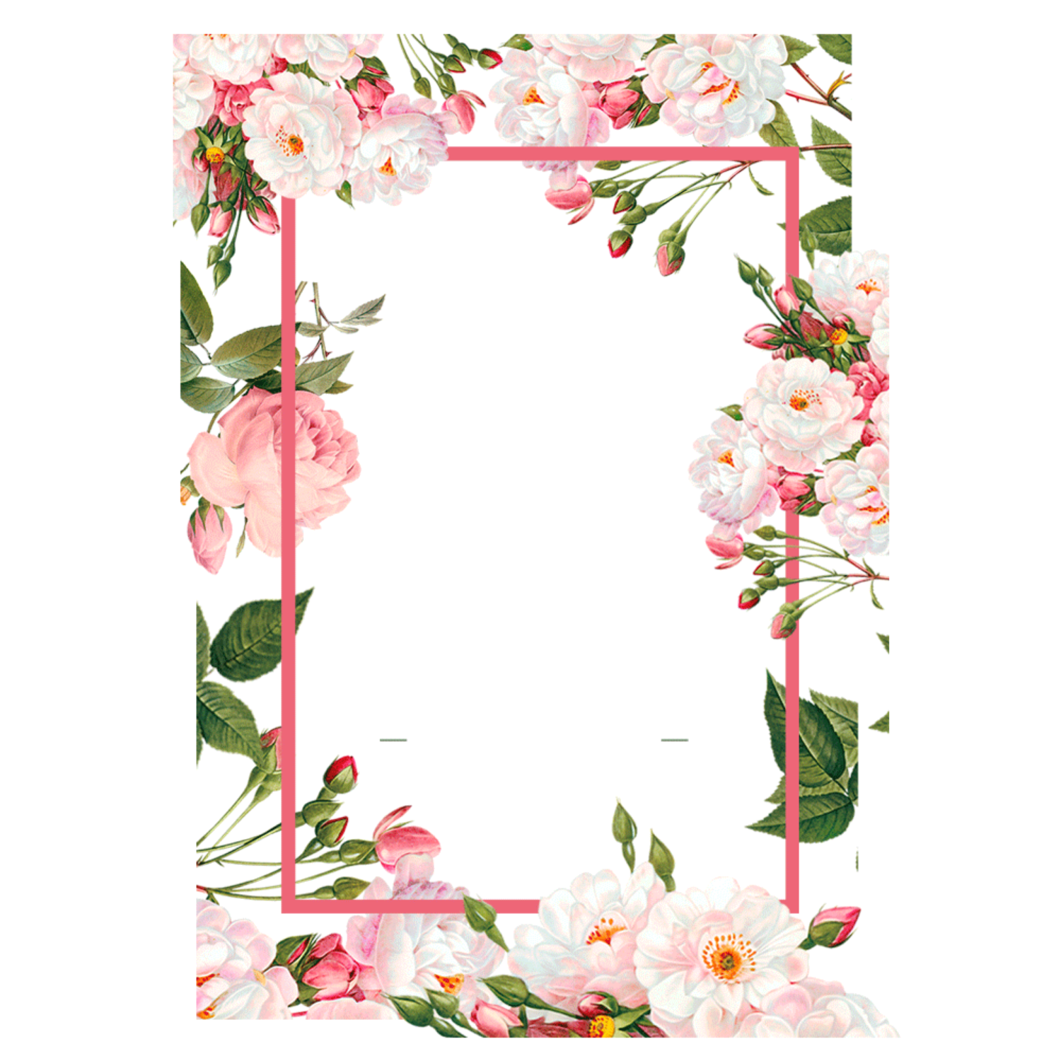ftestickers frame border flowers pink...