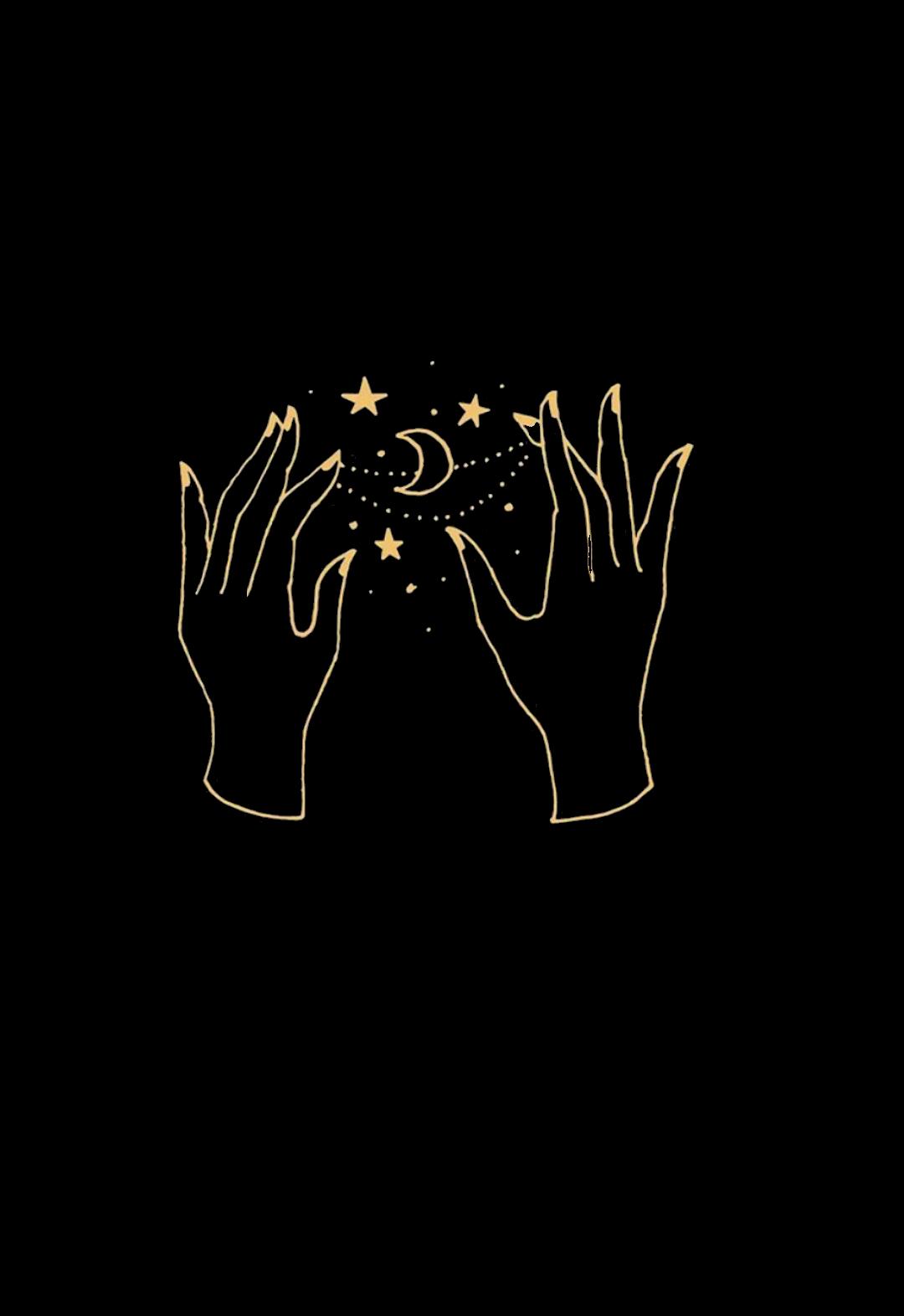 outline tumblr magic hands aesthetic