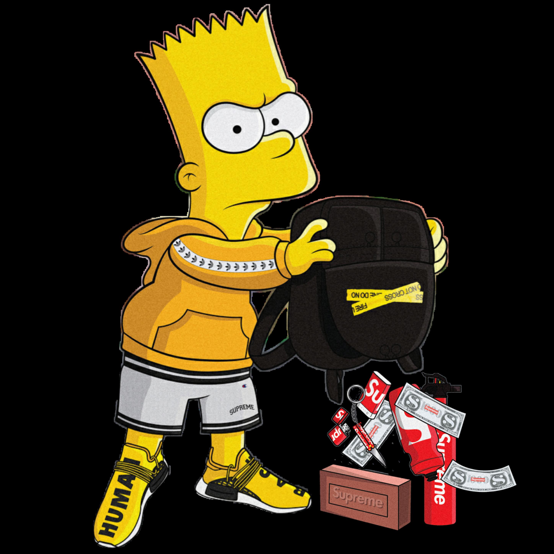 Bart Simpson Supreme Gucci Simpsons Brick Bartsupreme