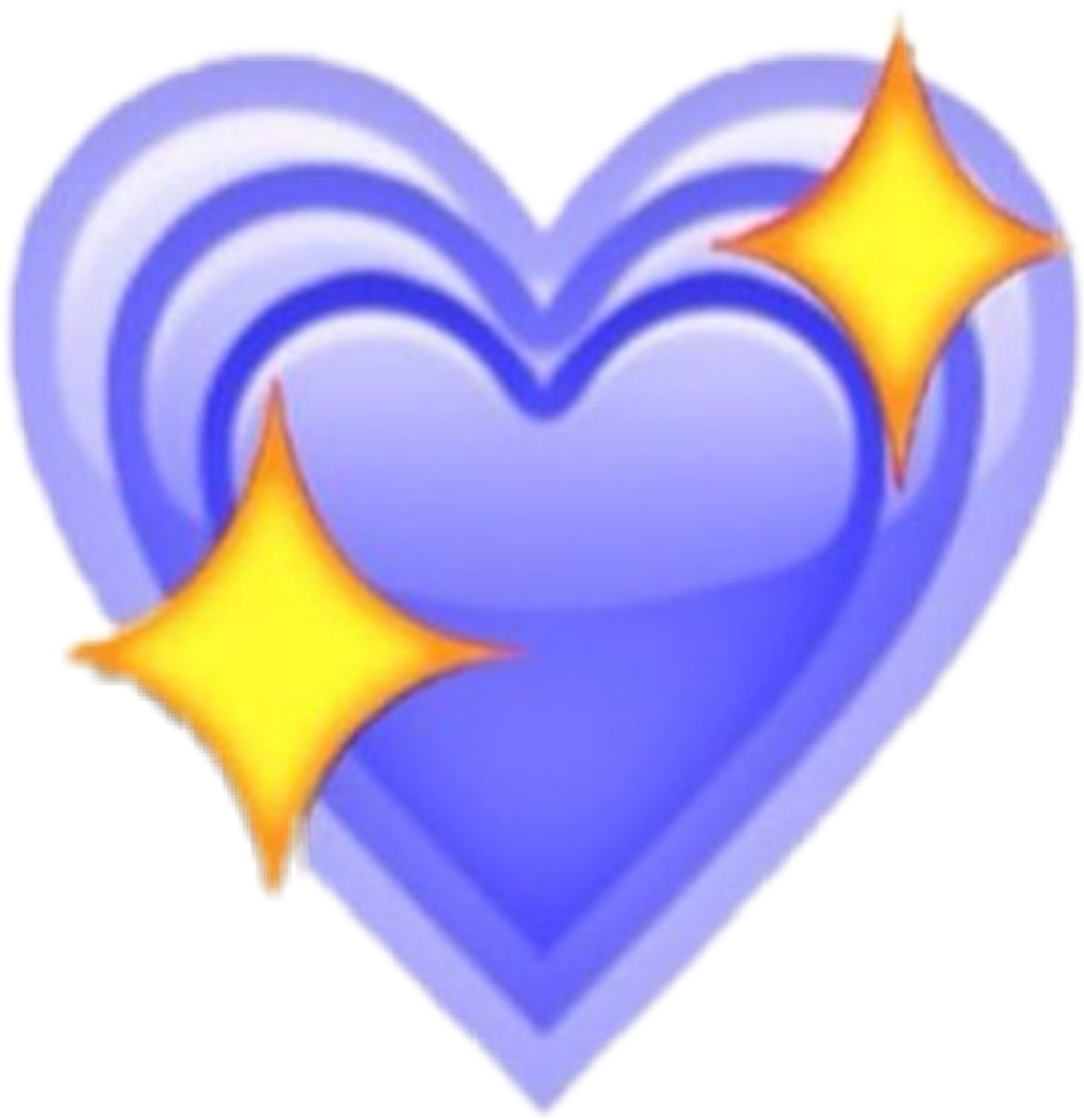 Emoji Cœur Heartapple Bleu Blue Cœurbleu