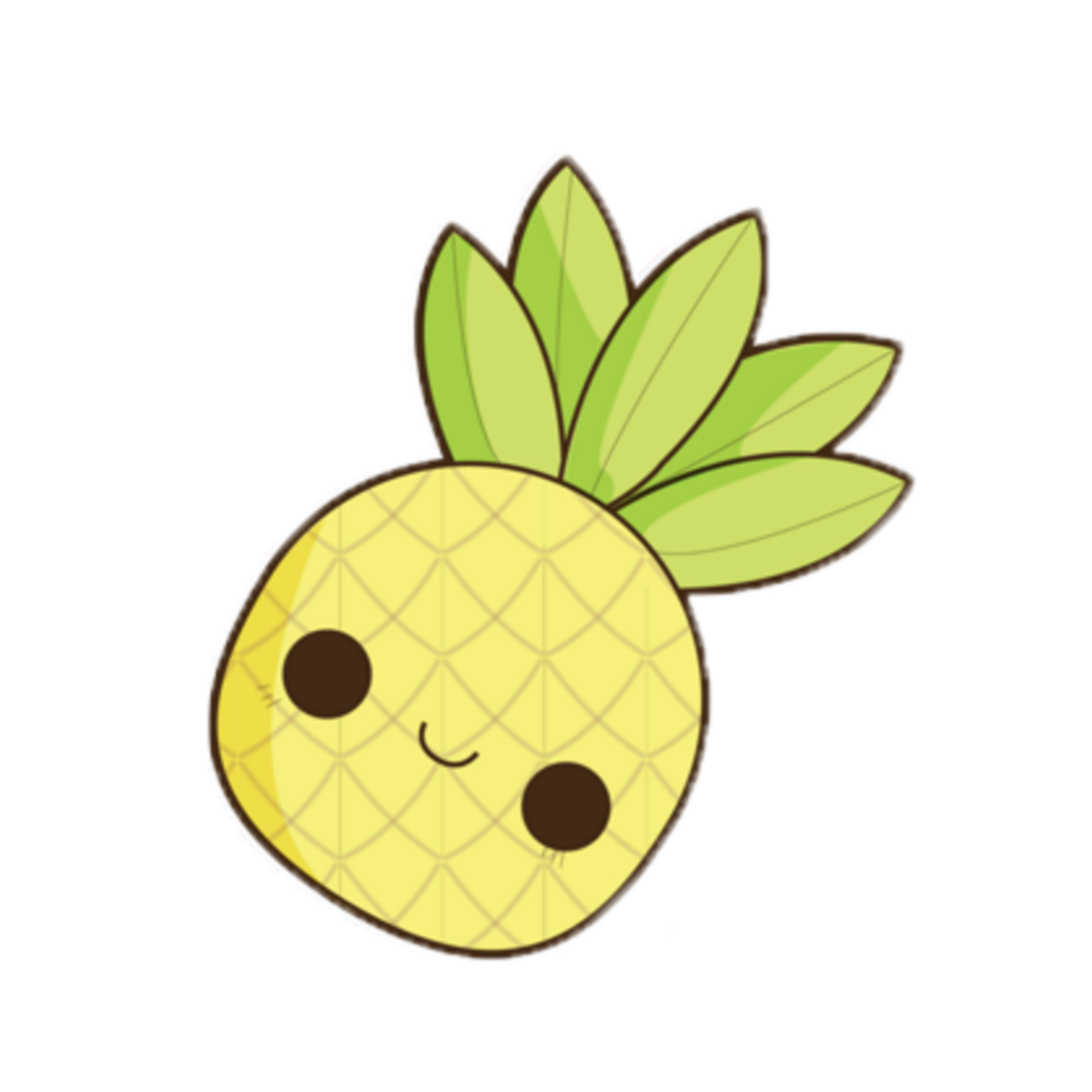 Kawaii Ananas Face Fruits Tropical