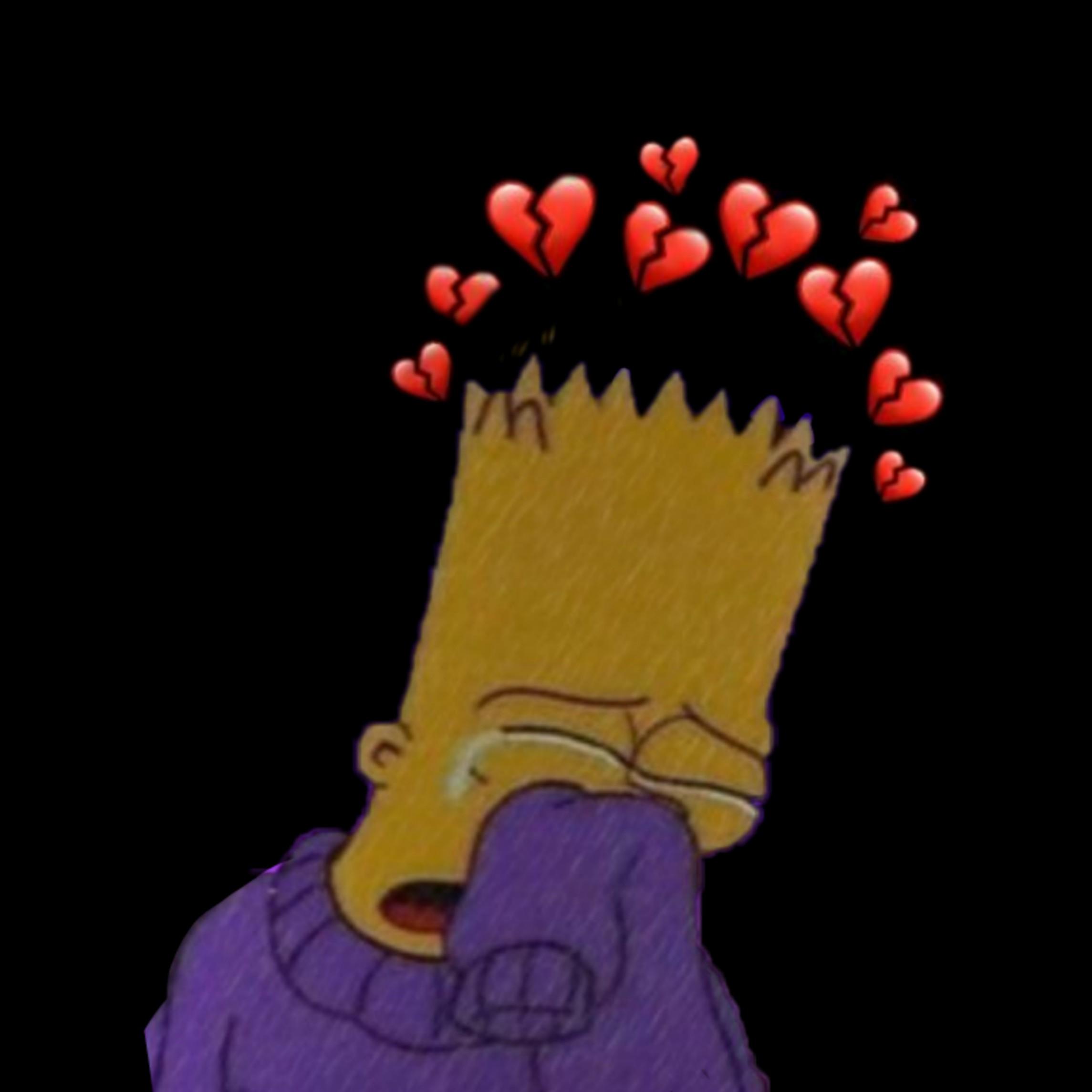 Freetoedit Bartsimpson Bart Simpsons Brokenheart Cry