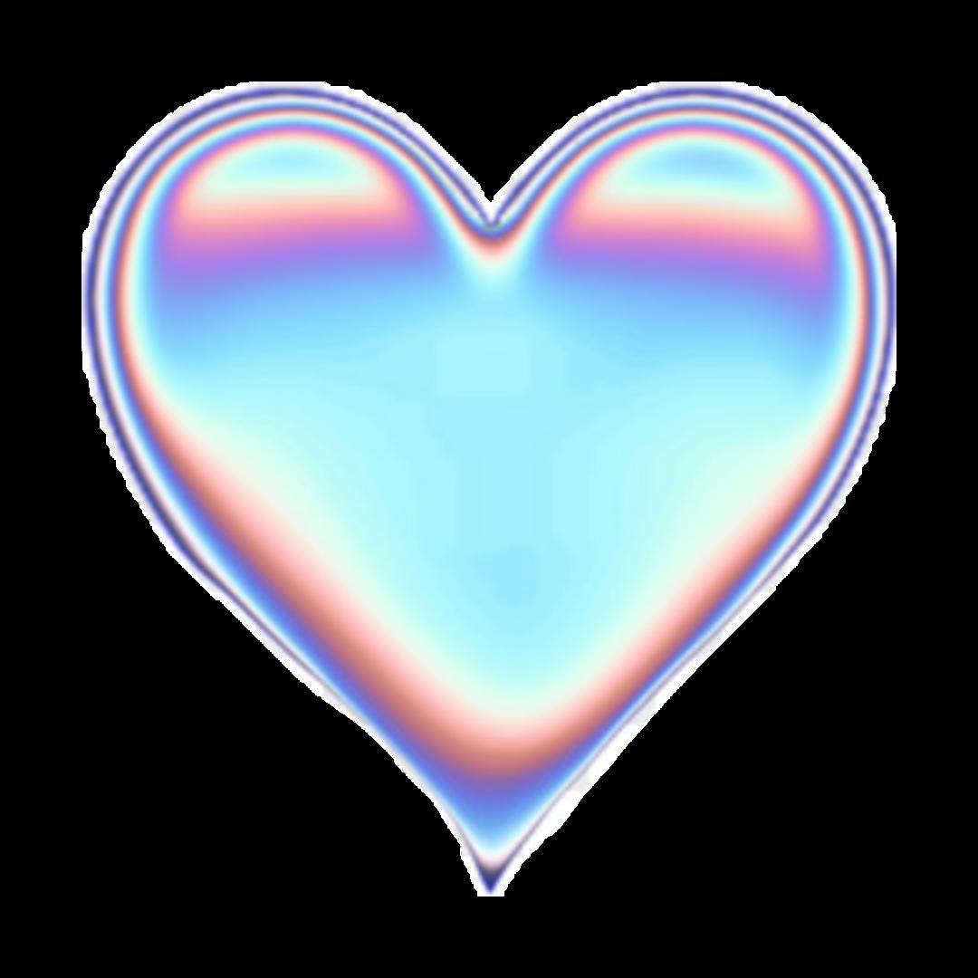 freetoedit rainbow holographic heart...