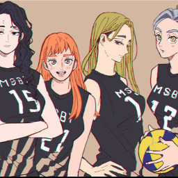 girls female haikyuu femalehaikyuu haikyuuanime anime lol