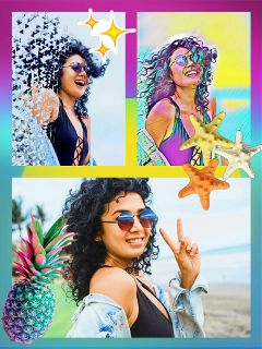 fun awesome girl summer collage ftestickers