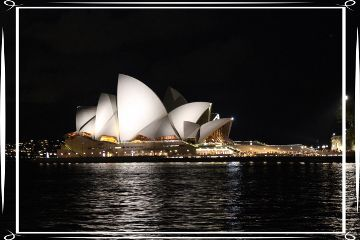 australia sydney operahouse night travel