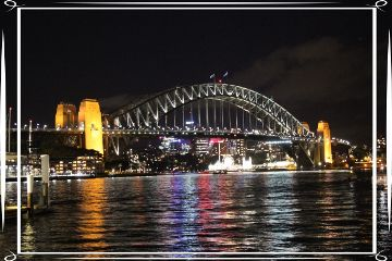 australia sydney sydneyharbourbridge travel night