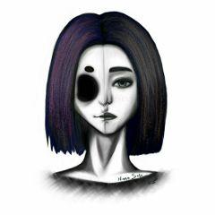freetoedit drawing lineplay art skull