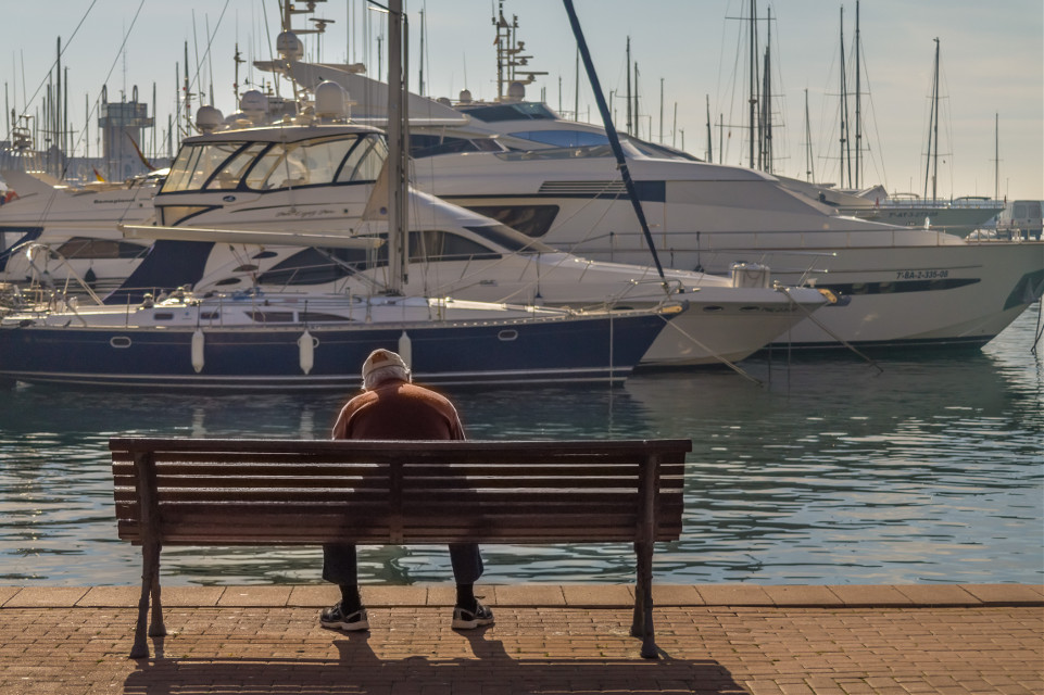 #sea #water #sky #hdr #hdrphotography #boats #tranquility #relax #person #streetphotography