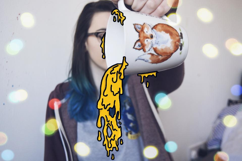 #FreeToEdit #dailyinspiration #slime #drawing #drawonphoto #bokeh #grimeart