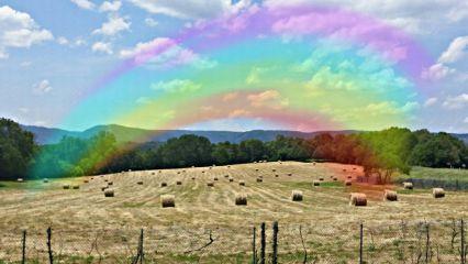 freetoedit rainbowdreams hdr hayfield myoriginalphoto