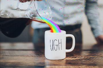 freetoedit rainbowlightcontest rainbow rainbowdreams coffee