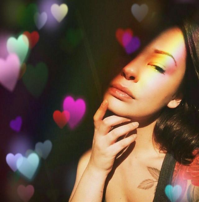 #FreeToEdit #hearts #rainbowlight  Remixed from @bree1987