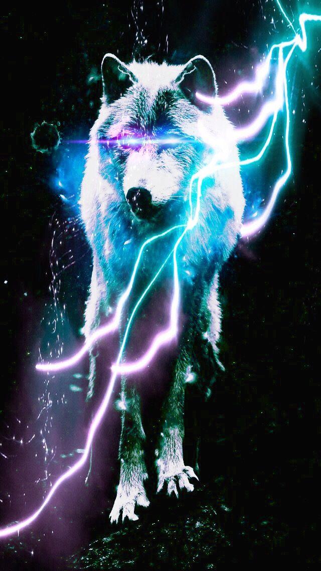 Awesome lighting Living Room Wolf Image Sanjudasnld Wolf Awesome Lighting Blackbackground Cyan Lightpurple