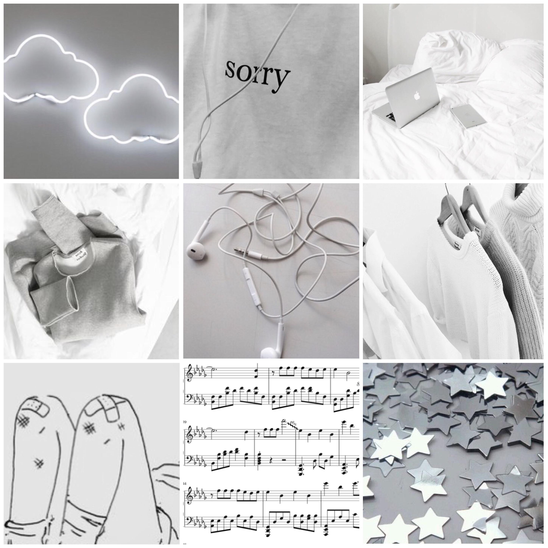 Grey White Aesthetic
