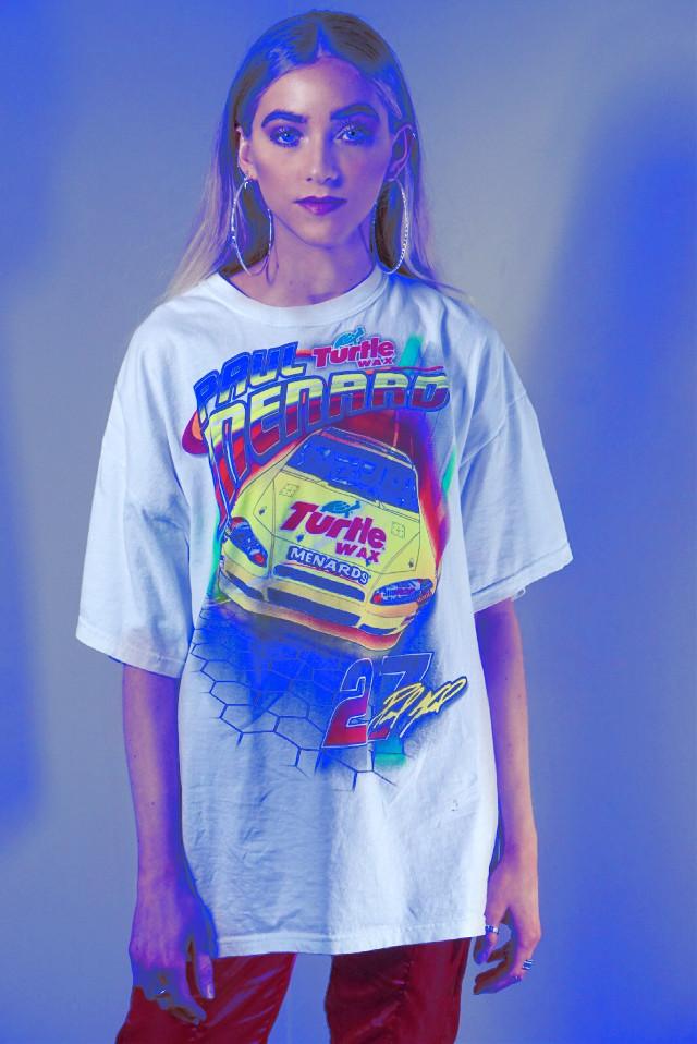 #FreeToEdit #girl #fashion #blue #bluelight #hoops #graphictee #shopping #style #streetwear #ootd #blonde #shook