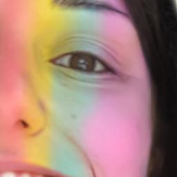 picsart rainbowlightcontest rainbowlight artisticportrait stickers