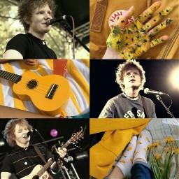 edsheeran aesthetic yellow