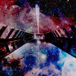FreeToEdit galaxy overlay hallway