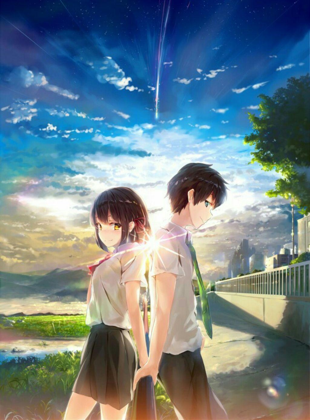 Anime animeboy animegirl girl boy love art digital