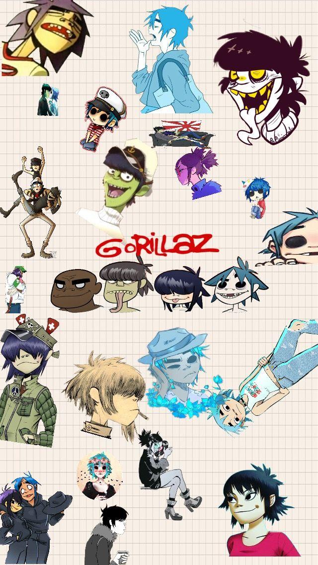 Freetoedit Gorillaz Phone Wallpaper Gorillaz Phonewallp