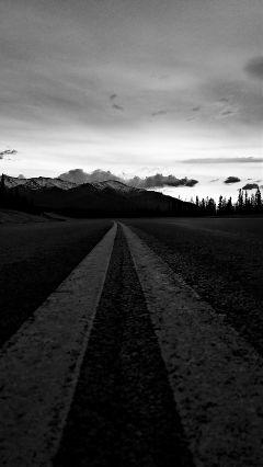 freetoedit drive blackandwhite view road