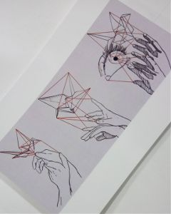 drawing ink theprometeus print origami