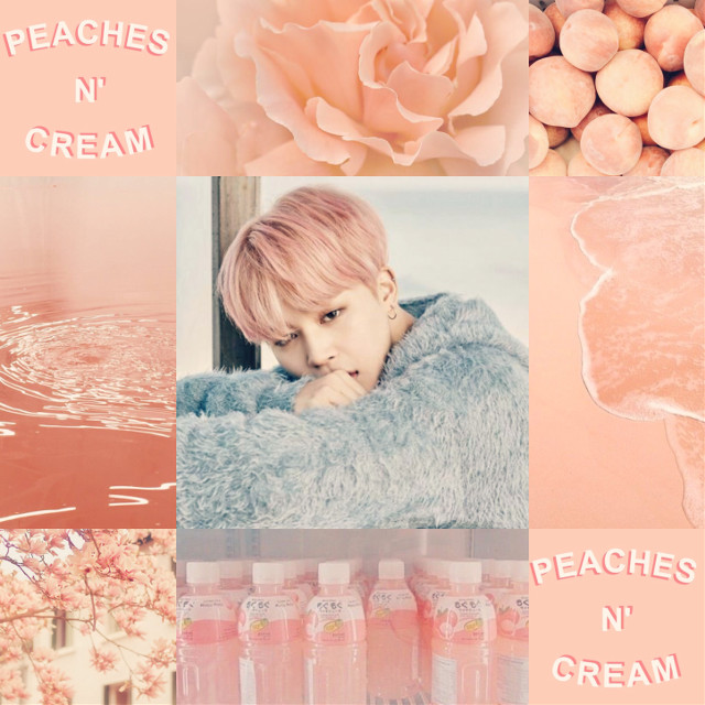 #jimin #bts #aesthetic #collage #kpop #peach #korea #cream #bangtanboys