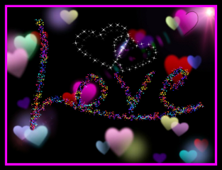 love hearts feelings colorful