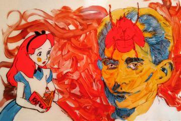 drawing acrylic theprometeus transgressive