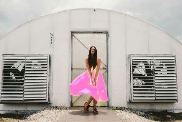 freetoedit curves pink dress girl