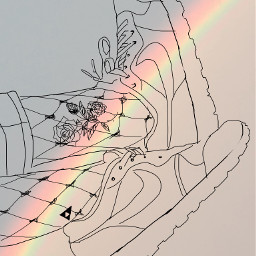 rainbow outlines shoes drawing draw freetoedit