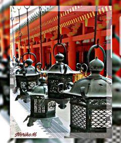 travel japan shrine lantern vermilion freetoedit