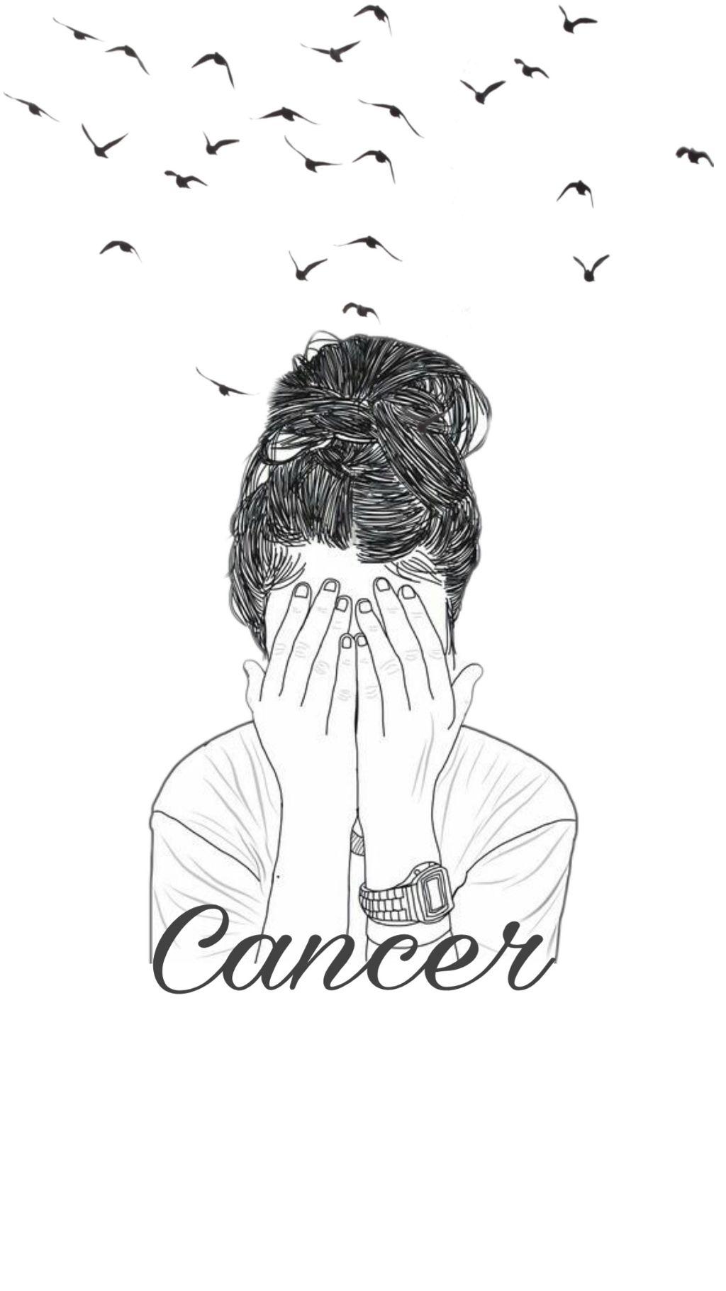 Freetoedit Zodiac Cancer Art Lockscreen Tumblr White