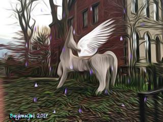 purplerainstickerremix freetoedit unicorn interesting yardart