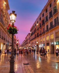 malaga callelarios atardecer andalucia costadelsol freetoedit