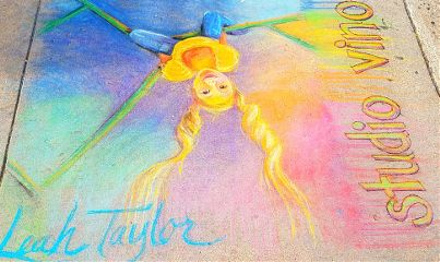 drawing sidewalkchalk kids colorful artwork