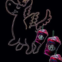 neon unicornpoop unicornfrappucinosticker unicornfrappucinoremixsticker freetoedit