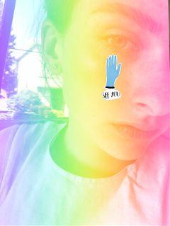 freetoedit rainbowmagicselfie