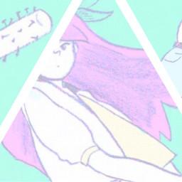 omocat pastel triangle omori boen freetoedit
