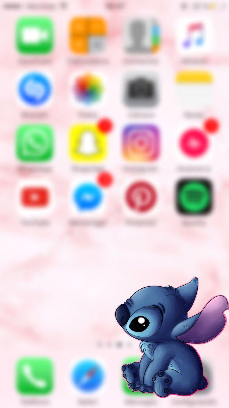 Wallpaper Stitch Iphone Pink Image By Maga Suevo