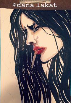 artinprogress art drawing ink watercolor