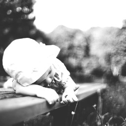 blackandwhite baby girl nature photography freetoedit