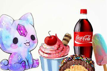 freetoedit coca_cola cake cream.... cream