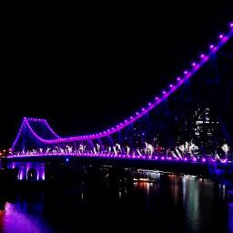 freetoedit pcnightlights nightlights australia brisbane dpcnightlife dpccitymonuments pclights pcpurple pcbridge