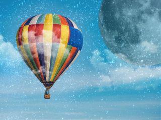 freetoedit balloon moon dodgereffect clouds