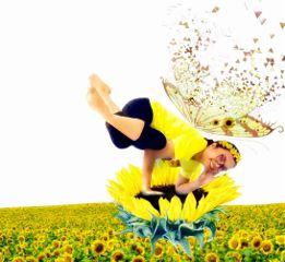 fairy sunflowers yoga yellow madewithpicsart