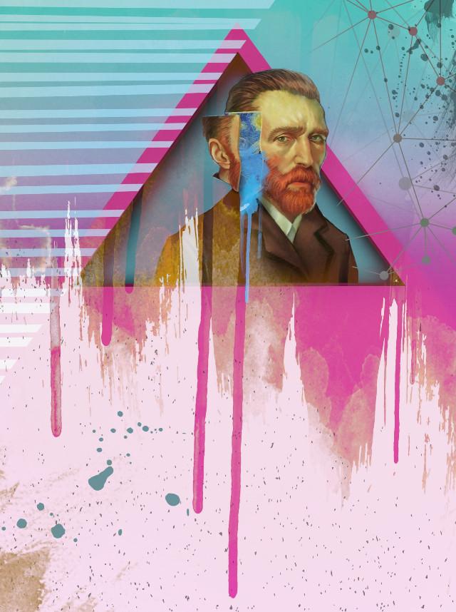 Happy new week everyone! #freetoedit #vincentvangogh #artsy #paintdrips #paintsplatter #popart #edited #myedit #madewithpicsart