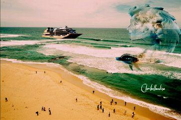 freetoedit beach myremix edited warmcolor